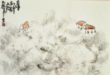 浓厚的东方意境,内含西方的技巧,王玉花博士的绘画是世界性的-第三世多杰羌佛正法